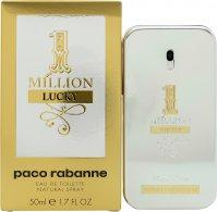 Paco Rabanne 1 Million Lucky Eau de Toilette 50ml Spray Eau de Toilette Paco Rabanne