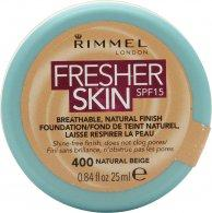 Rimmel Fresher Skin Foundation 25ml - 400 Natural Beige Foundation Rimmel