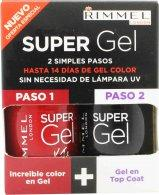 Rimmel Super Gel Gift Set 12ml Rock N Roll + 12ml Top Coat Neglelak Rimmel