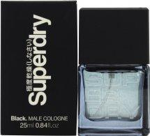 Superdry Black Eau de Cologne 25ml Spray Eau de Cologne Superdry