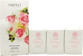 Yardley English Rose Sæbe 3x 100g Sæbe Yardley