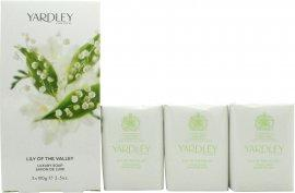 Yardley Lily of the Valley Sæbe 3x 100g Sæbe Yardley