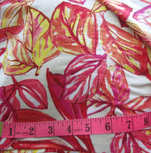 Load image into Gallery viewer, Billie Dress Sleeveless Boat Neck Fit and Flare Dress in Red Pink Leaf Print Cotton