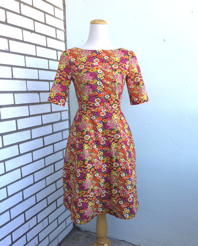 Wicked Witch Fit and Flare Dress Multi Floral Print