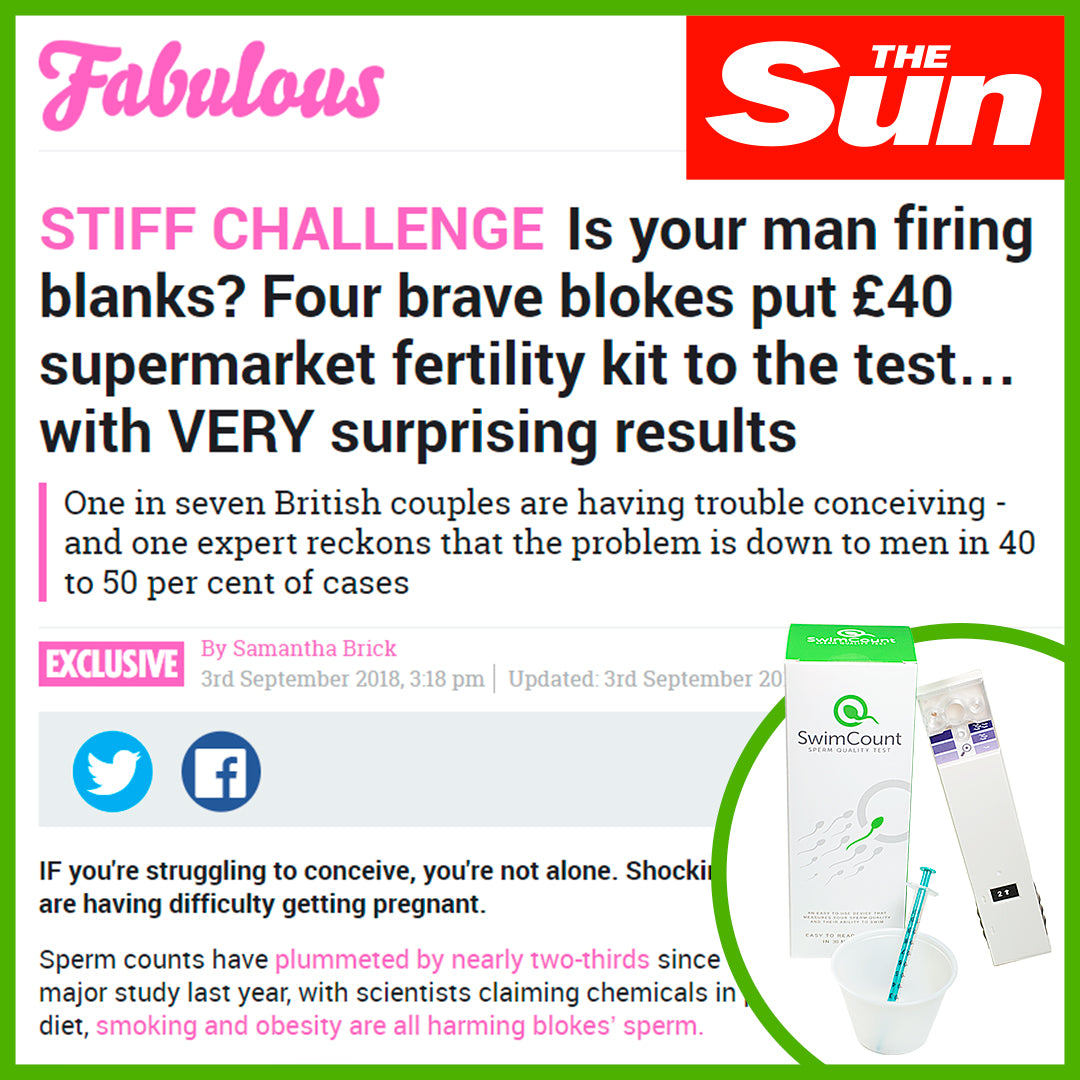 Article in The Sun: Is your man firing blanks?