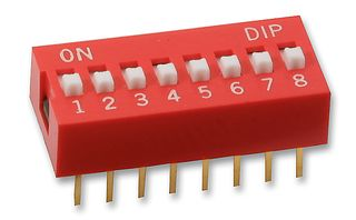 Dip Switch Deslizable De 8 Posiciones