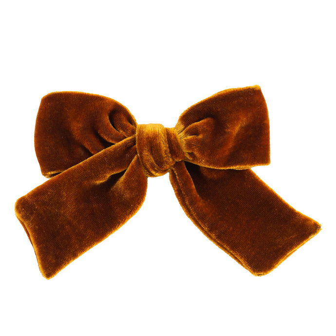 silk velvet hair bow