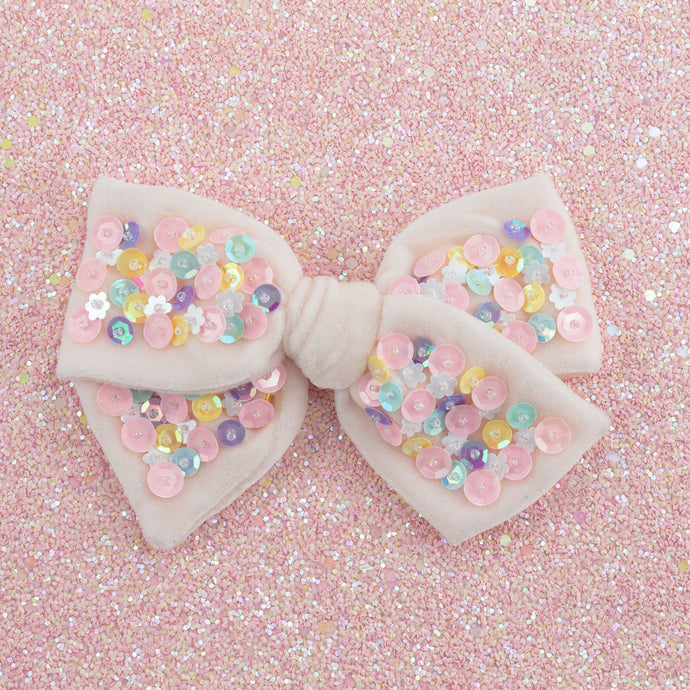confetti hair bow