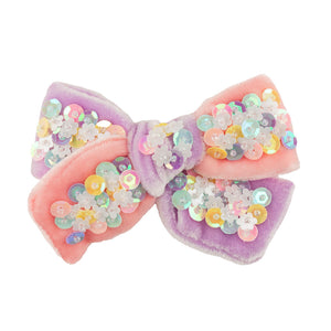Confetti Bow Small // Pink & Purple