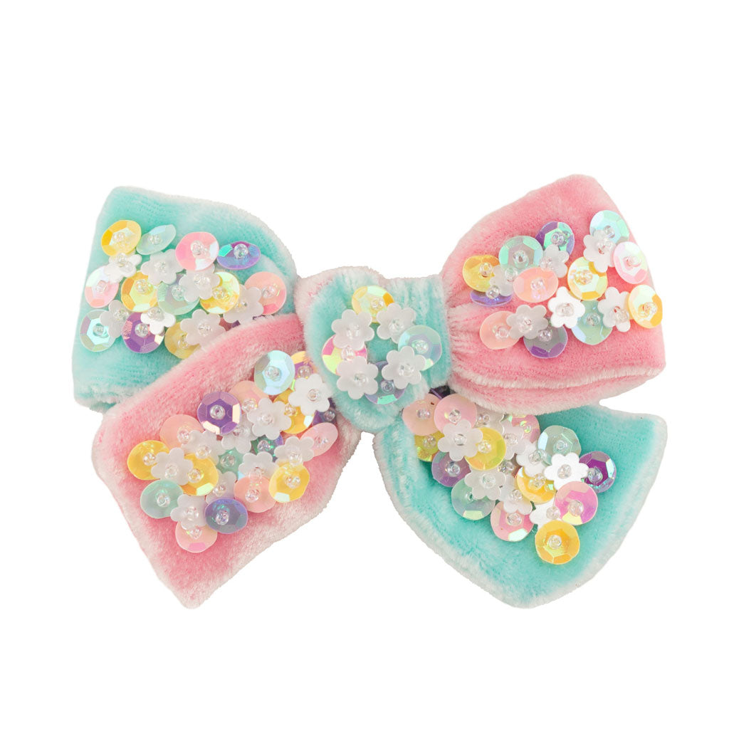 Confetti Bow Small // Pink & Mint