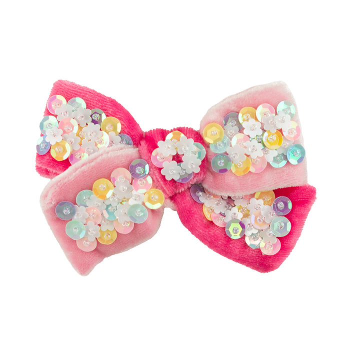 Confetti Bow Small // Pink & Pink