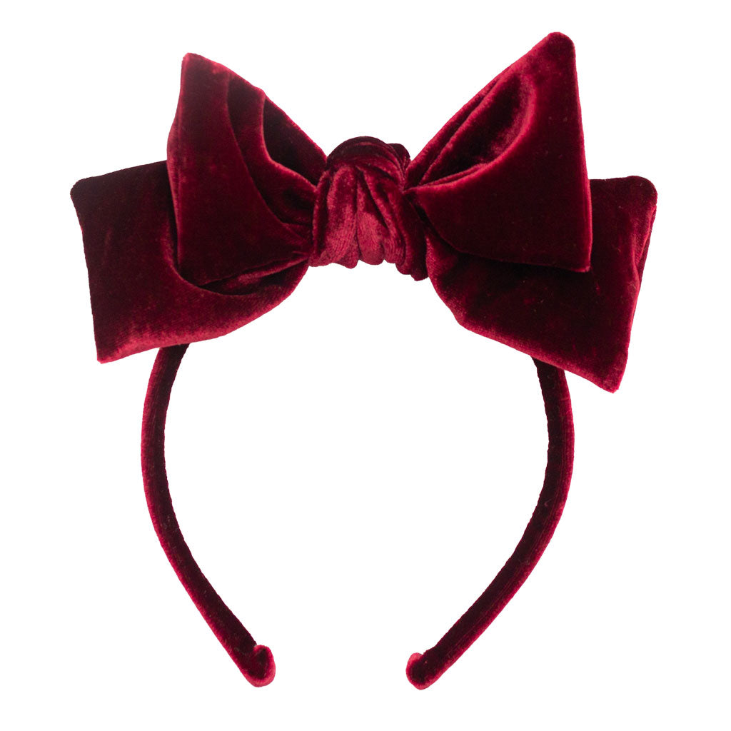 DOLLY BOW HEADBAND  // BURGUNDY