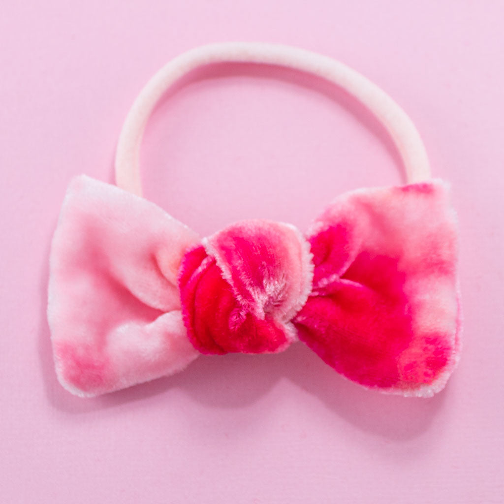 DARLING TIE DYED BOW // I PINK I LOVE YOU