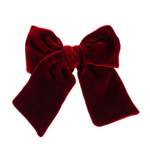 Load image into Gallery viewer, LARGE VELVET BOW // BURGUNDY