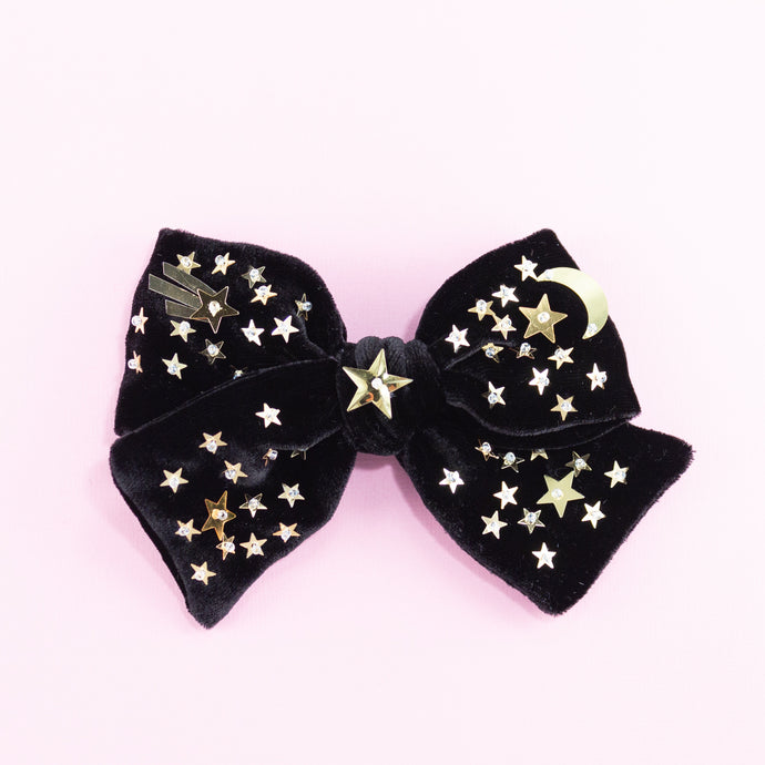 velvet confeti hair bow