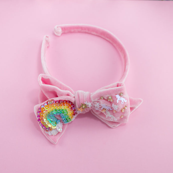 OVER THE RAINBOW HEADBAND // PINK