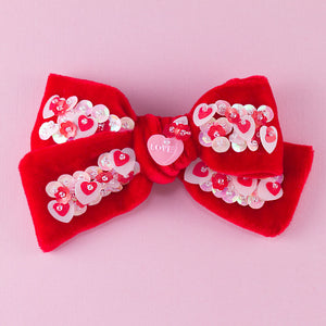SWEETHEART VELVET BOW // SMALL