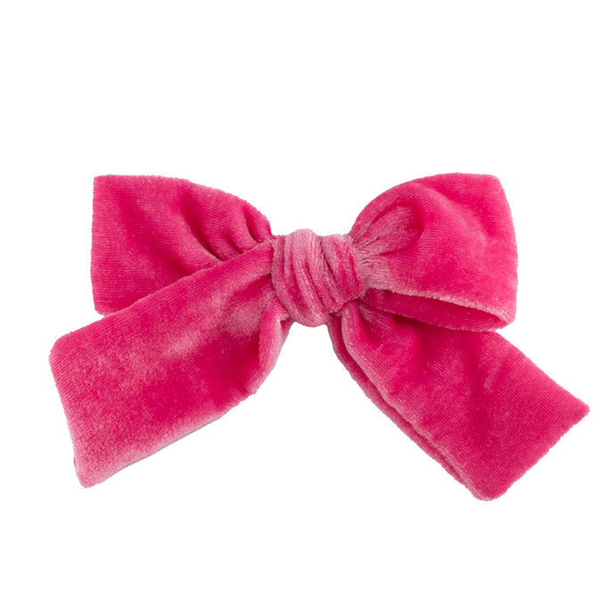Velvet Hair Bow // Candy Kiss
