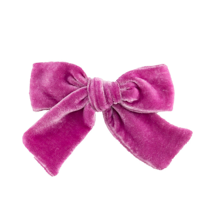 Velvet Hair Bow // Cerise