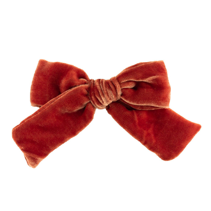 Velvet Hair Bow // Cinnamon