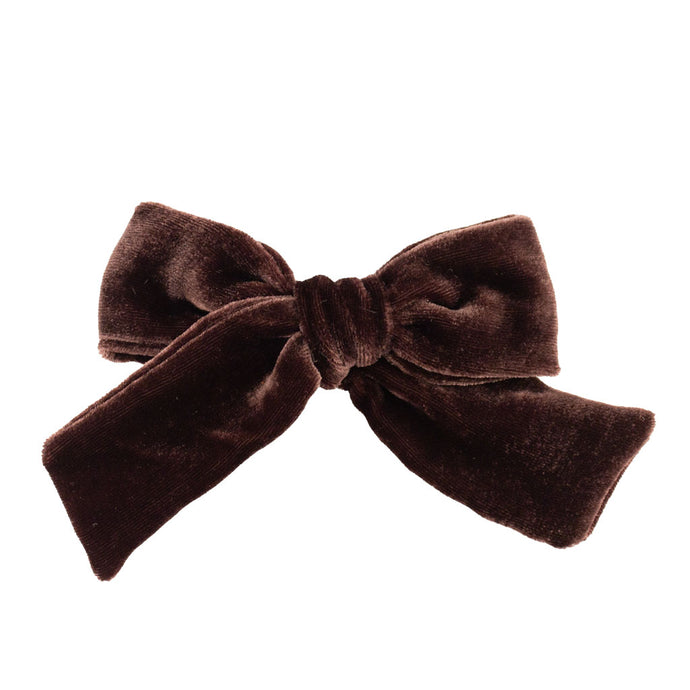 Velvet Hair Bow // Cocoa
