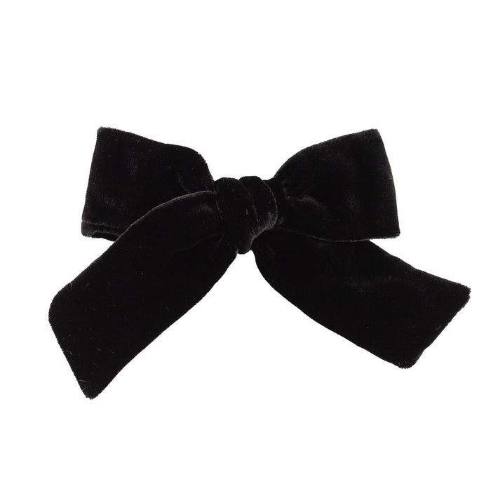 Velvet Hair Bow // Midnight