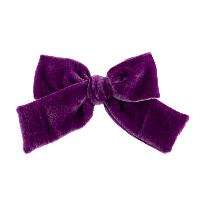 Velvet Hair Bow // Plum