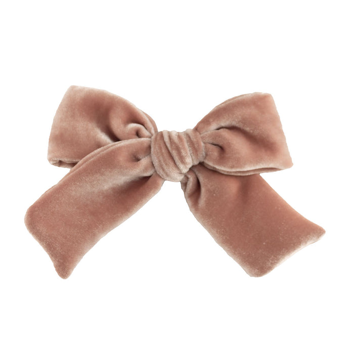 Velvet Hair Bow // Sweet Rosy Brown