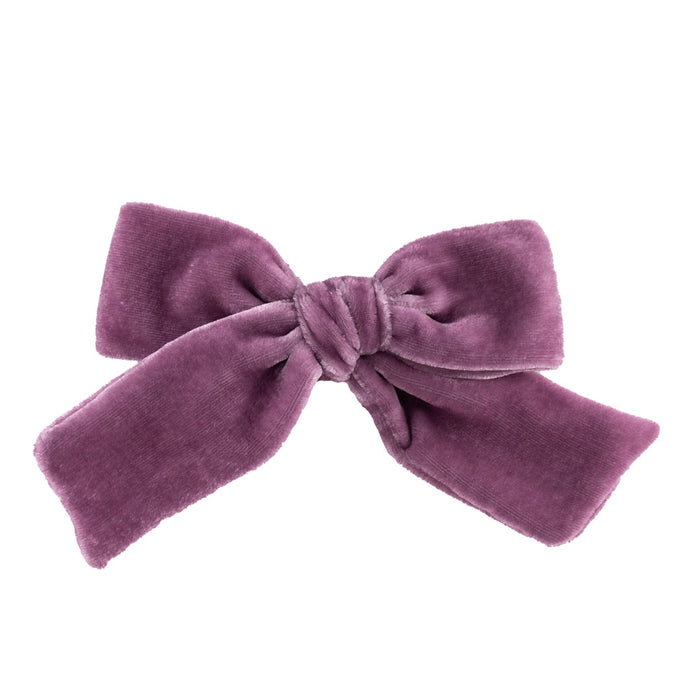 Velvet Hair Bow // Ube