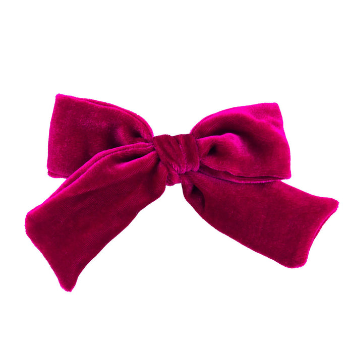 Velvet Hair Bow // wild Berry