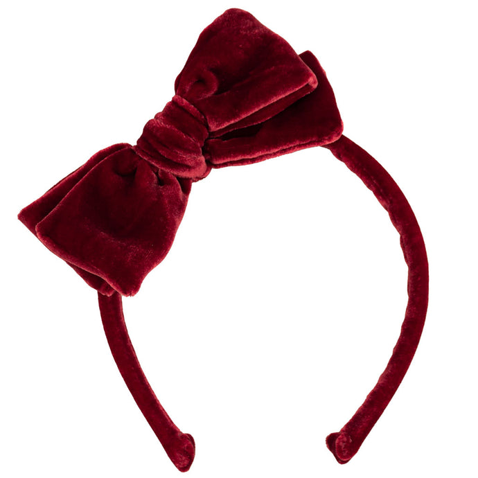 Velvet Headband // Crimson Red
