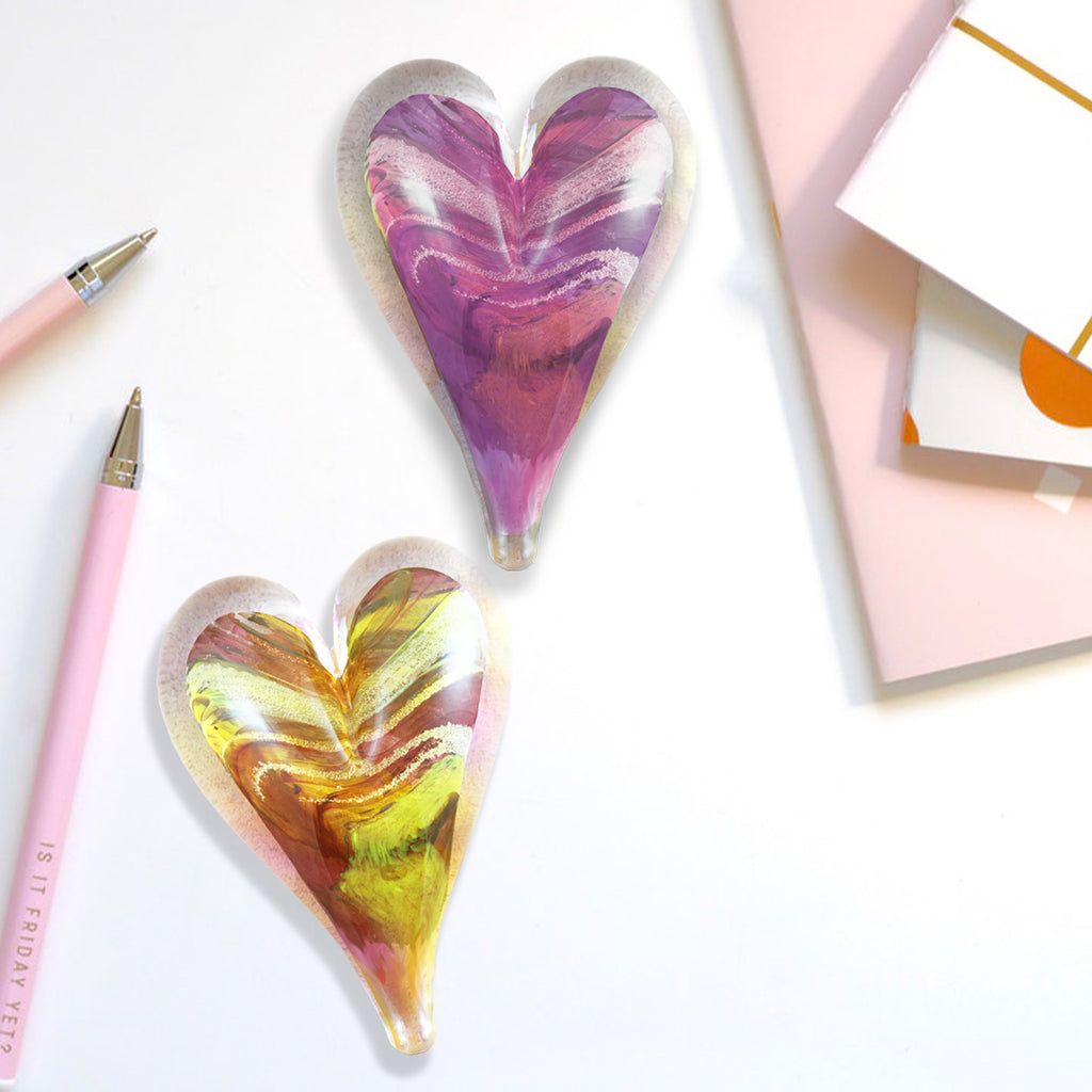 "Large 5.5"" Heart Paperweight [Special]"