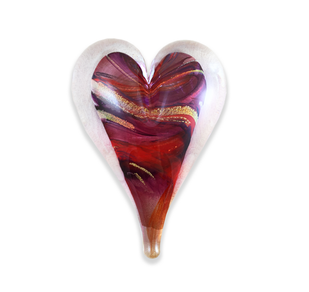 "Large 5.5"" Heart Paperweight"