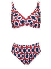 Bikini Cabana in red and blue