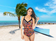One-piece swimsuit Dominica in multicolor