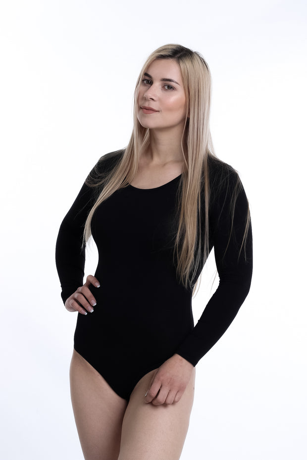 Long-Sleeved, Cotton Soft Bodysuit Loli