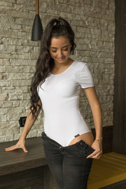 Soft, Cotton T-Shirt Bodysuit Lona