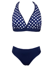 Bikini Morea in blue and white dots