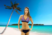 Bikini Morea in multicolor (pink, blue and black)