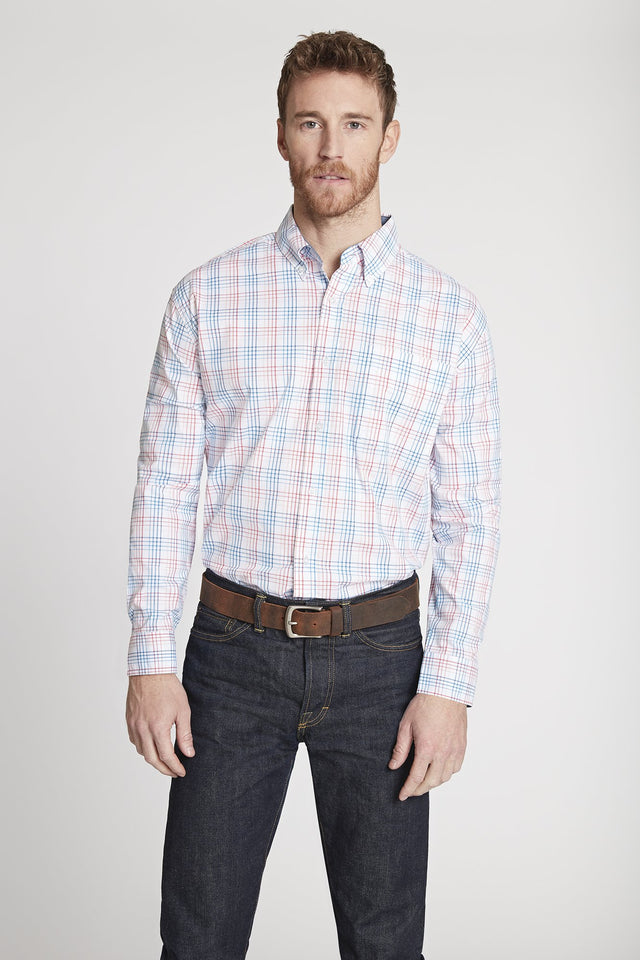 Black Label Premium Cotton Plaid Button-Down