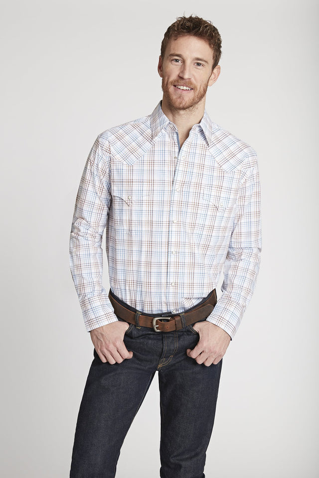 BLACK LABEL PREMIUM COTTON PLAID WESTERN SHIRT