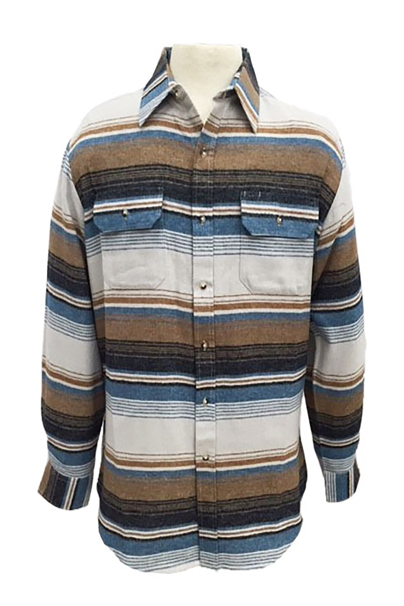 Long Sleeve Stripe Flannel (front)