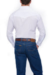 Ely Cattlman Long Sleeve Tonal Western Shirt in White