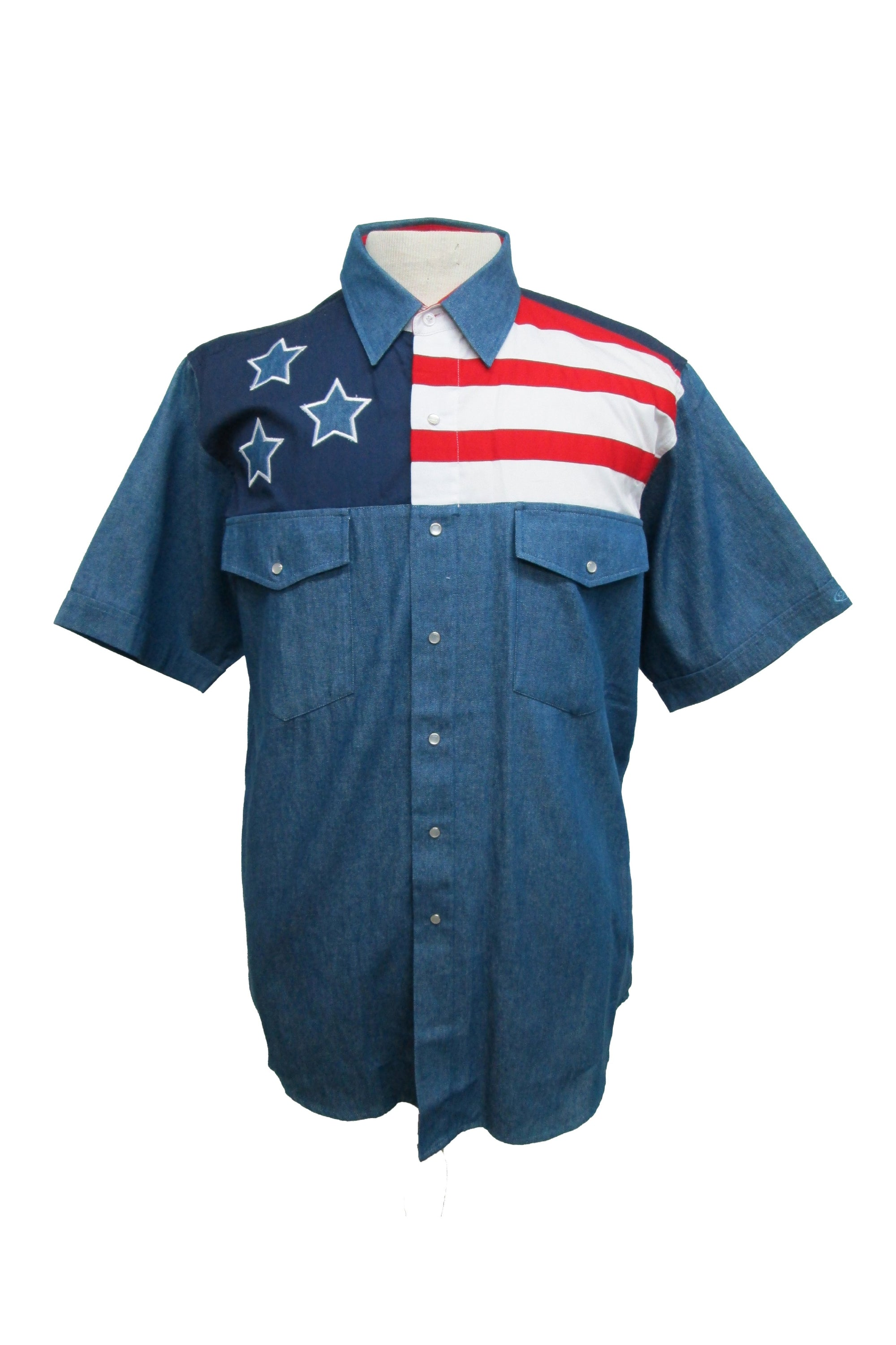 Short Sleeve American Flag Shirt