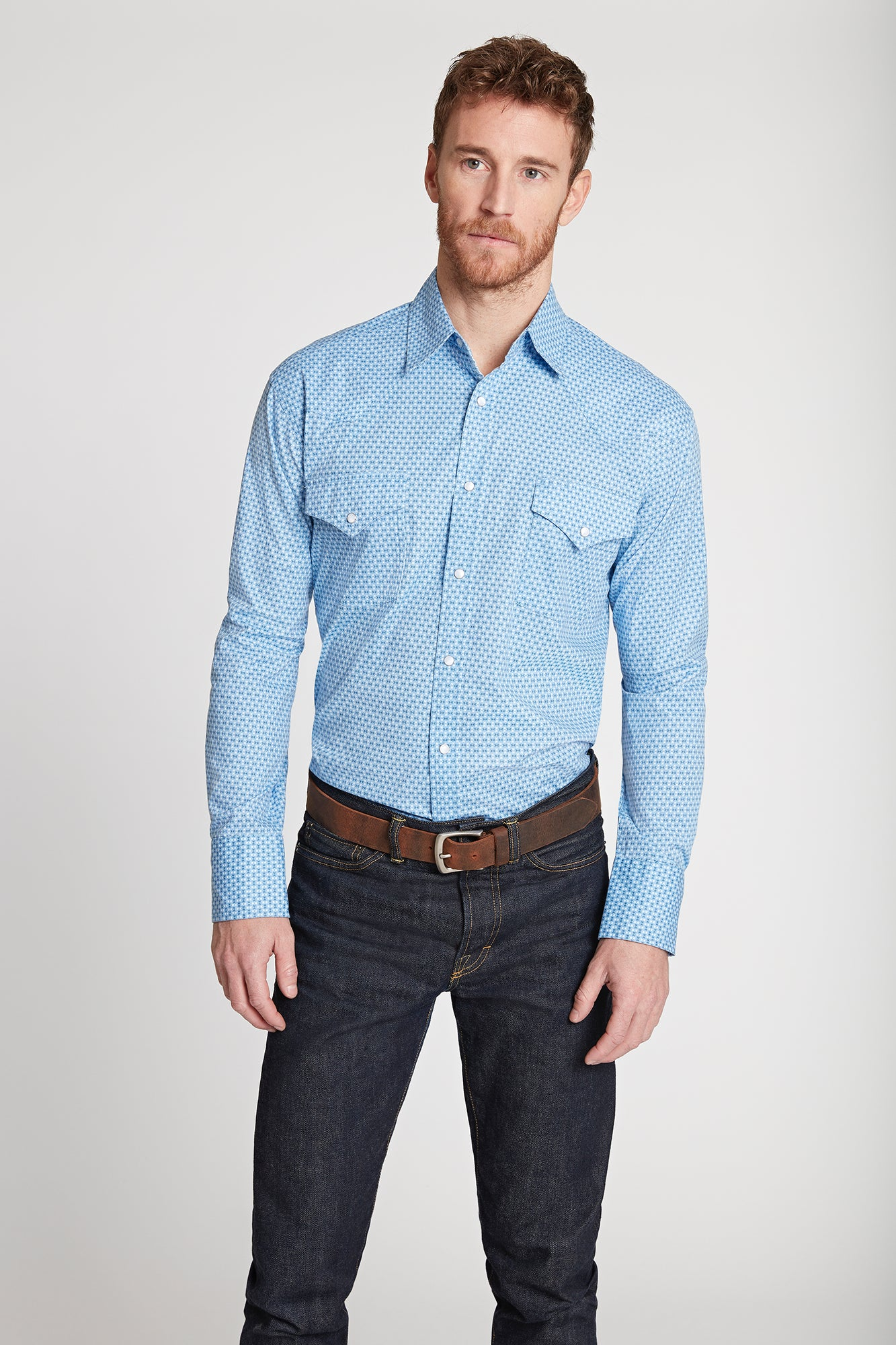 Men's Black Label Premium Cotton Poplin Western Shirt | Ely Cattleman