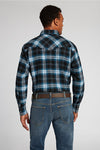 Long Sleeve Flannel Plaid Shirt in Black Plaid | Ely Cattleman