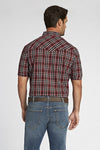 Short Sleeve Plaid Shirt in Burgundy Plaid | Ely Cattleman