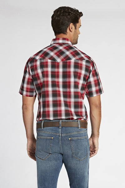 Short Sleeve Plaid Shirt in Red Plaid | Ely Cattleman