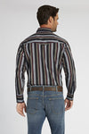 Long Sleeve Striped Shirt in Burgundy Stripe | Ely Cattleman