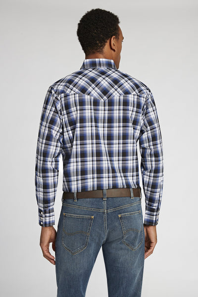Long Sleeve Plaid Shirt in Blue Plaid | Ely Cattleman